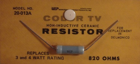 Workman Ceramic Resistor 820 Ohm