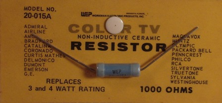 Workman Ceramic Resistor 1K Ohm