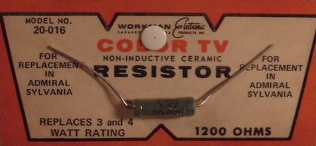 Workman Ceramic Resistor 1.2 K Ohm