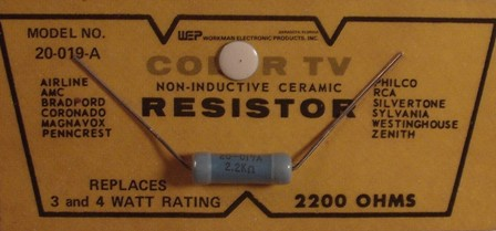 Workman Ceramic Resistor 2.2K Ohm