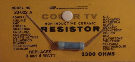 Workman Ceramic Resistor 3.3 K Ohm