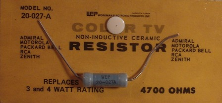 Workman Ceramic Resistor 4.7 K Ohm