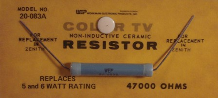 Workman Ceramic Resistor 47K Ohm 6 Watt