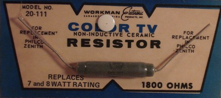 Workman Ceramic Resistor 1.8K Ohm 8 Watt