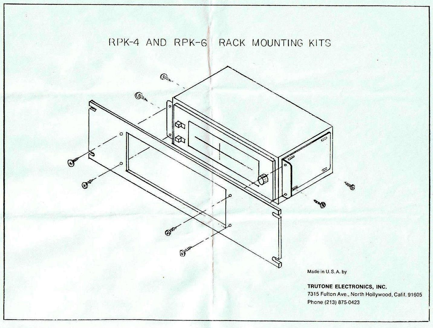 RAYMER RACK PANEL KIT RPK-4