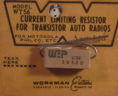 Workman 5 W Current Limiting 5.6 Ohm